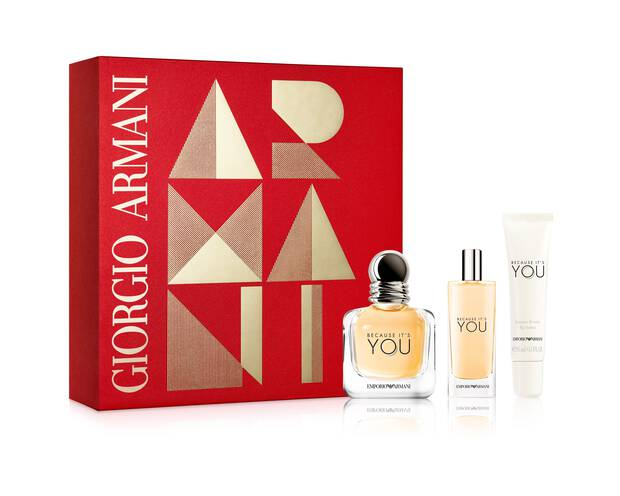 Emporio Armani Because Its You Eau De Parfum Gift Set For Her